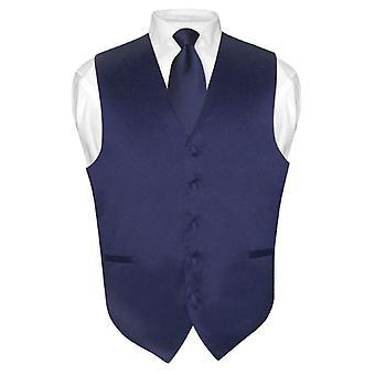 Männer Kleid Weste & Krawatte Solid Hals Krawatte Set für Anzug oder Smoking