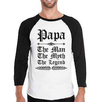 Vintage Gothic Papa Mens Raglan Shirt Lovely Fathers Day Geschenk