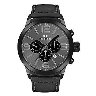TW steel heren horloge Chrono Marc Coblen Edition TWMC18 pols horloge lederen band