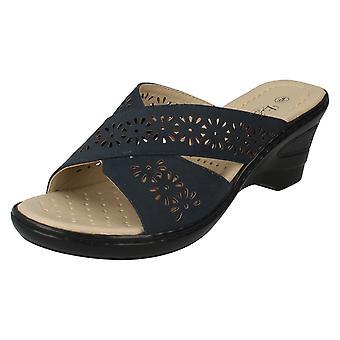 Ladies Eaze Wedge Mule Sandals F3104S