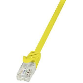 Logilink RJ45 netværk kabel kat 5e U/UTP 5,00 m gul incl. udløser