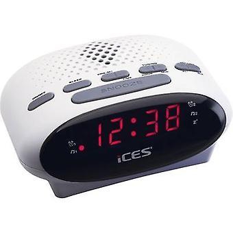 FM radio wekker ICES ICR-210 FM wit