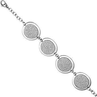 Pulseiras pulseira de aço inoxidável com mosquetão de cinta do brilho efeito 20cm inox