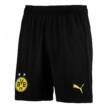2018-2019 Borussia Dortmund Puma lejos Shorts (negro) - niños