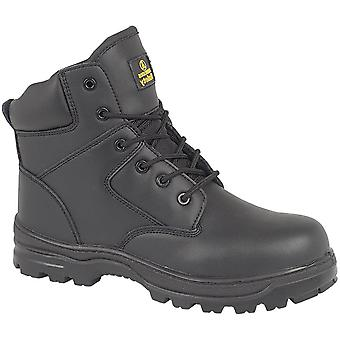 Amblers Steel FS006C Mens Metal Free Safety Work Boots FS006C Black