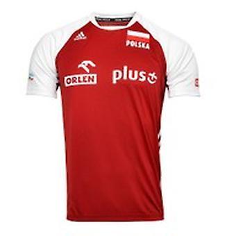 Adidas MT VB FO JR S Puola Tee O04644CZERWONA lentopallo kaikki vuoden Miesten t-paita