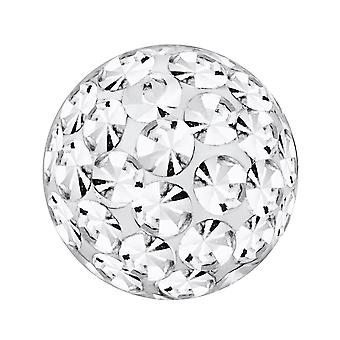 Piercing vervanging bal, lichaam sieraden, Multi Crystal stenen Crystal Clear | 4, 5 en 6 mm