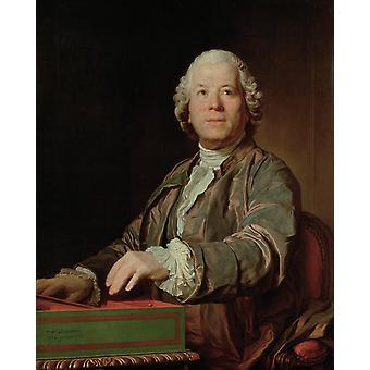 Portrait de Christoph Willibald, Joseph-Siffred Duplessis, 50x40cm