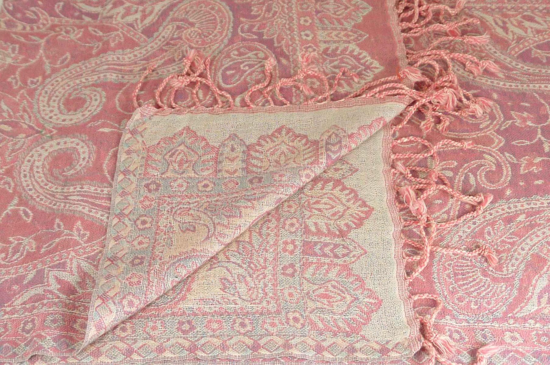 Muffler Scarf 4743 in Fine Pashmina Wool Heritage Range by Pashmina & Silk
