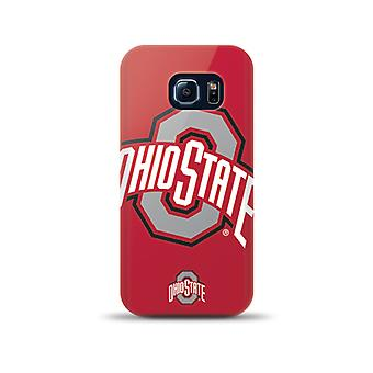 Mizco Sports NCAA Oversized Snapback TPU Case for Samsung Galaxy S6 Edge (Ohio State Buckeyes)