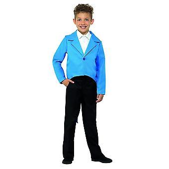 Sininen frakki, tanssi, sirkustirehtööri, esiintyjä, naamiaispuku, suuri ikä 10-12