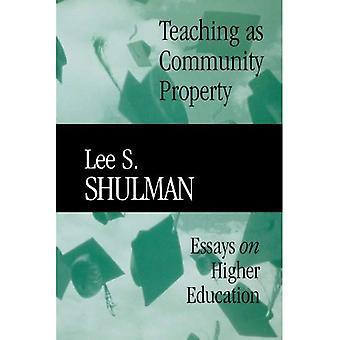 Teaching as Community Property: Essays on Higher Education (Jossey-Bass/Carnegie Foundation ...