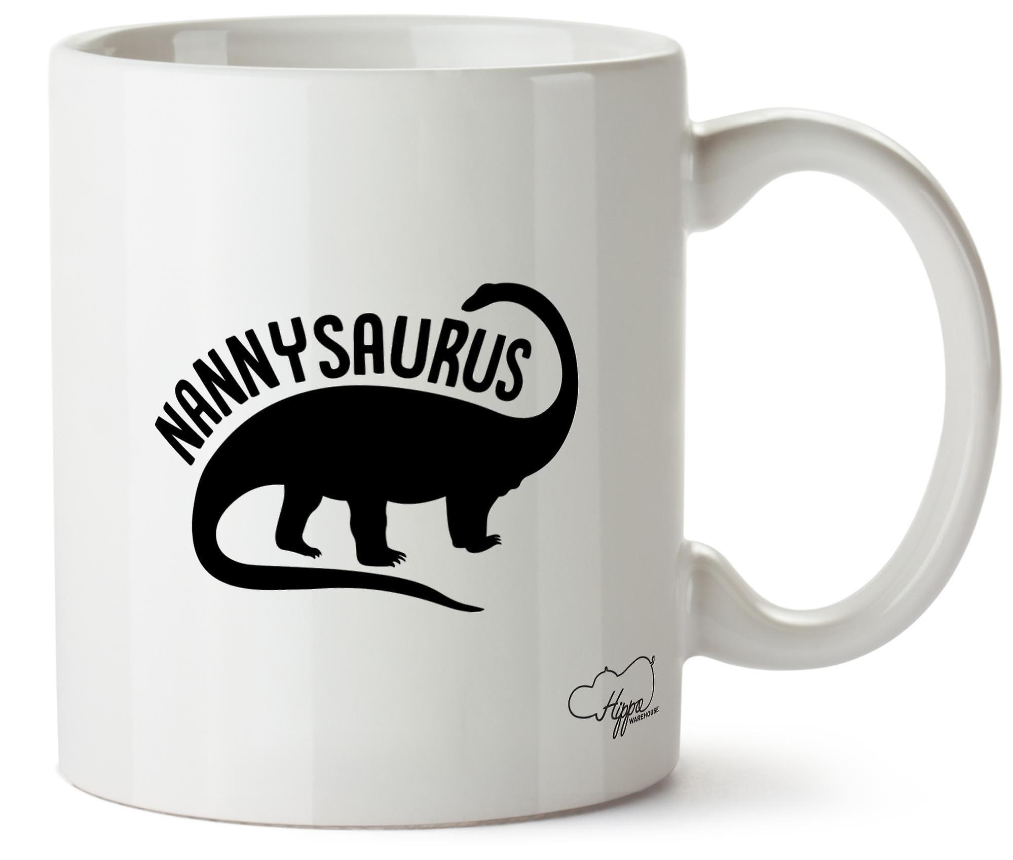 Hippowarehouse Nannysaurus печатных Кубка керамическая кружка 10oz