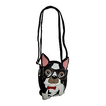 Herr Hipster Nerdy Boston-Terrier In Gläser kleine Crossbody Handtasche