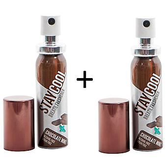Paquete de menta de chocolate fresco de 2 ambientadores de higiene bucal Oral Pump Spray