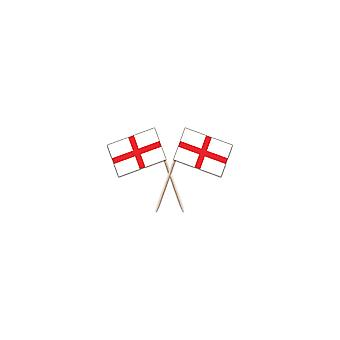 Union Jack Wear England St George Flag Party Picks - Pack Of 100