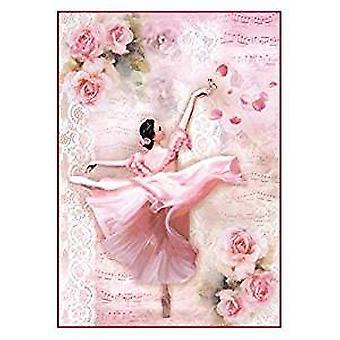 Stamperia Rice Paper A4 Dancer with Petals (DFSA4308)