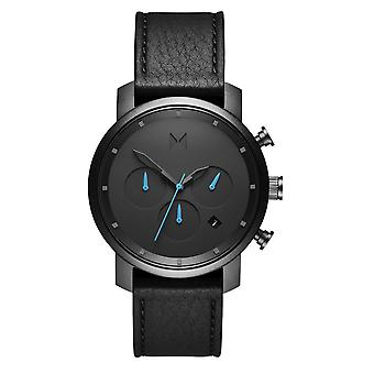 MVMT Chrono Gunmetal Black Men's Watch Wristwatch Leather MC02-GUBL