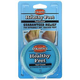 O'Keeffe's Terveet jalat 91 grammaa jar-erittäin kuiva, säröillä käsissä