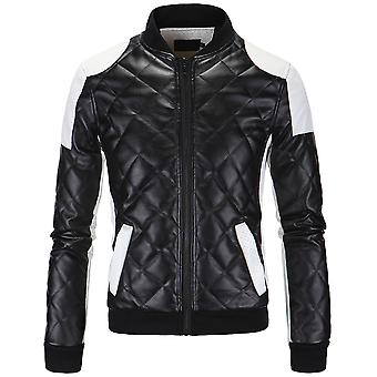 Allthemen Men's Padded Jacket Colorblocked Baseball Collar Zipper Jacket