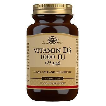Solgar Vitamina D3 25ug (1000iu) Cápsulas Blandas 100 (3340)