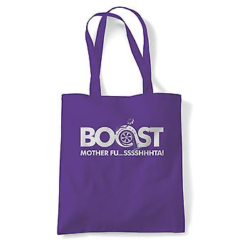 Boost Mother Fusssshhhta, Funny Car Tote - Reusable Shopping Canvas Bag Cadeau