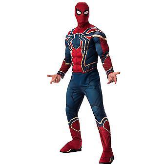 עכביש ברזל spider-Man דלוקס הנוקמים מארוול הסופי גיבור Mens תלבושות