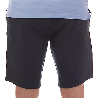 Mens Le Shark entree katoen shorts in Navy-knop Fly-belt lussen naar taille-