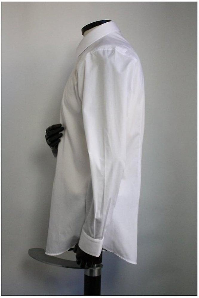 Remus Uomo White Cotton Slim Fit Shirt