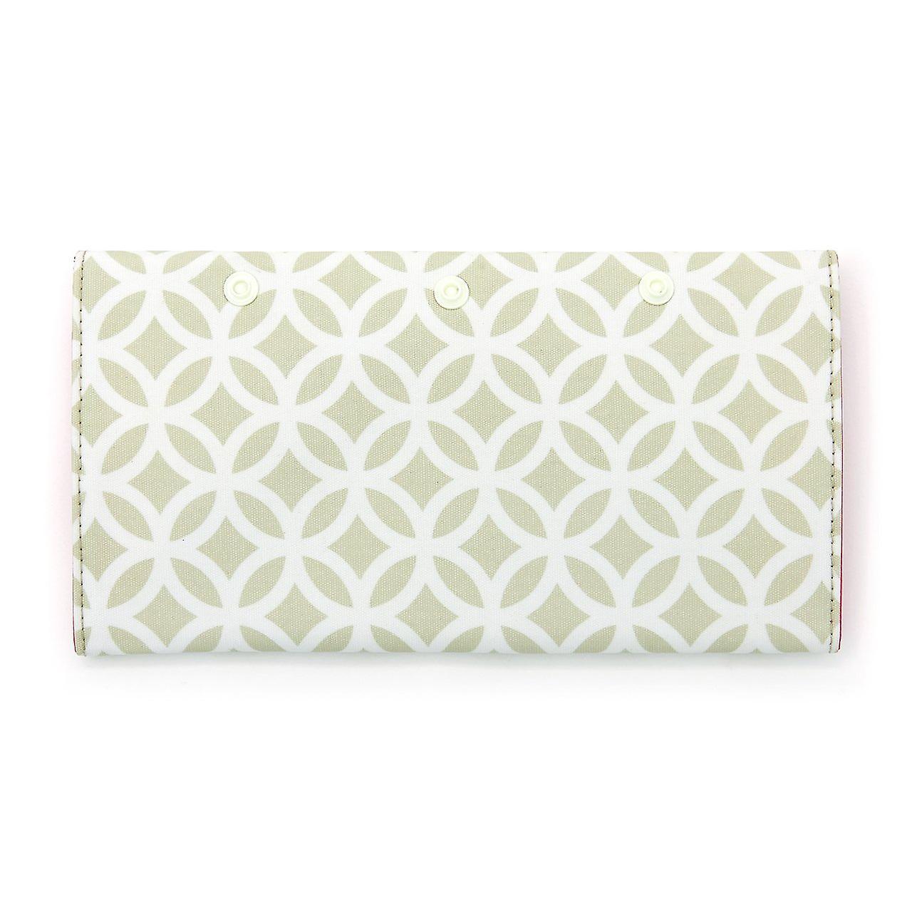 'victoria green' brush purse in geometric sage