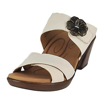 Aetrex Womens Staci läder öppen tå casual plattform sandaler
