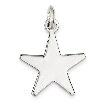 925 Sterling Silver Solid Polished Engravable Pendant Necklace Jewelry Gifts for Women - 3.7 Grams
