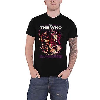 The Who T Shirt Japan Tour 73 Band Logo retro new Official Mens Black