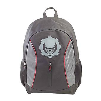Gears Of War Backpack Black Skull Printed Logo new Official Gamer Black