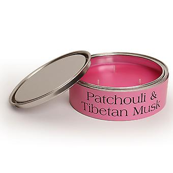 Pintail Candles Large 3 Wick Scented Candle Tin - Patchouli & Tibetan Musk