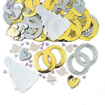 Amscan metallinen Jumbo Confetti - morsiamen Bells