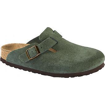 Birkenstock Boston 1014208 täppa mocka läder grön REGULAR