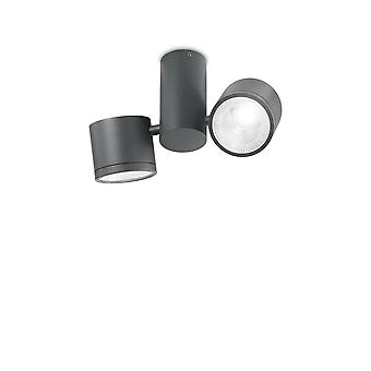 Ideale Lux Sonnenbrille LED 2 Licht Deckenleuchte Anthrazit IP44 IDL161846
