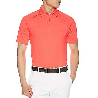 Bajo armadura hombres Threadborne exterior Glow manga corta Golf Polo Camisa - Naranja