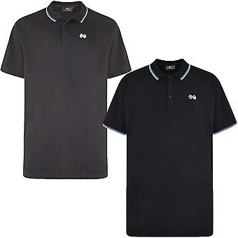 Crosshatch Mens Mickleton Plus Short Sleeve Collared Cotton Polo Shirt Top Tee