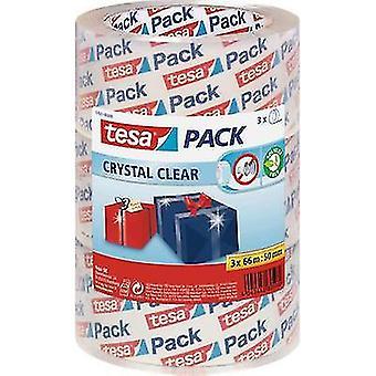 tesa 57831-00-01 شريط التعبئة والتغليف tesapack® واضحة (L x W) 66 م × 50 ملم 3 أجهزة الكمبيوتر (s)