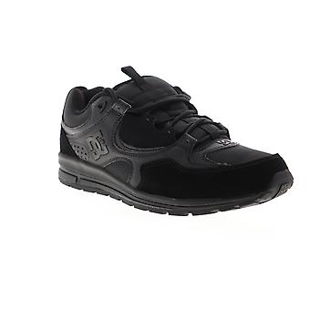 DC Kalis Lite mens Zwart Suede leer Lace up atletische skate schoenen