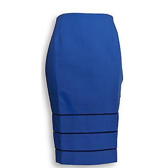 G.I.L.I. got it love it Skirt Pencil w/ Open Work Detail Blue A275548