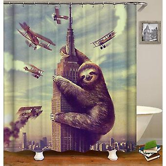 King Sloth Kong Shower Curtain