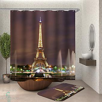 View of the Eiffel Tower Shower Curtains