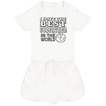 I Have The Best GodFather In The World Baby Playsuit