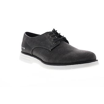 GBX Hammon  Mens Black Canvas Casual Lace Up Oxfords Shoes