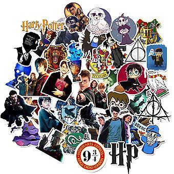 50st Harry Potter Gadget Stickers Klistermärken Återanvändbara Vinyl