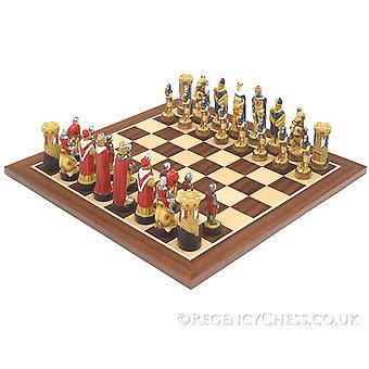 Slag bij Bannockburn handgeschilderde schaakstukken