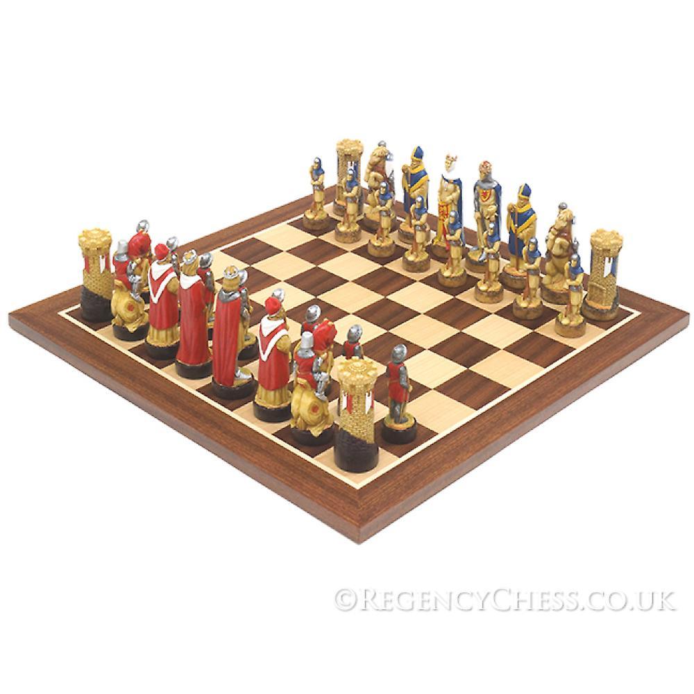 Battle Of Bannockburn hand painted chess set